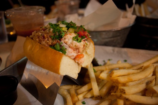 Langostino and lobster roll