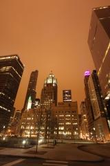 The Chicago Tribune at night