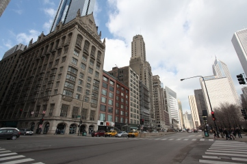The view down Michigan Ave.