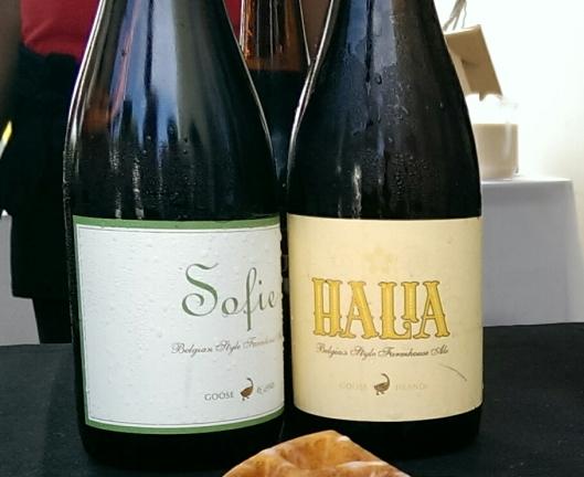 Sofie and Halia saisons from Goose Island Beer Company