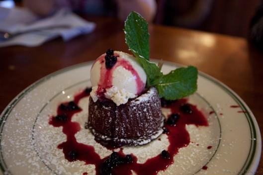 Warm Dark Chocolate Cake