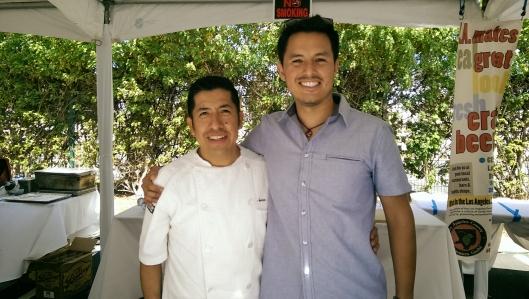 With Santos Navarro of Tin Roof Bistro