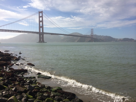 The Golden Gate Bridge by scooter