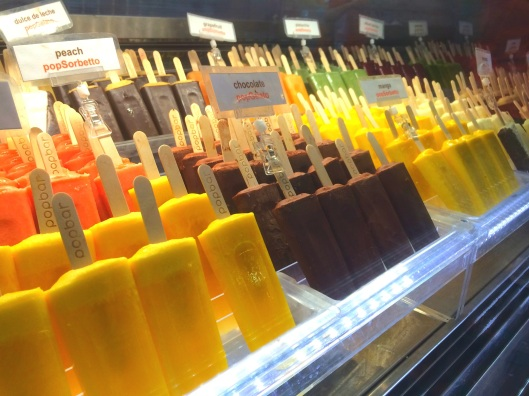 Rows and rows of popGelatos and popSorbettos